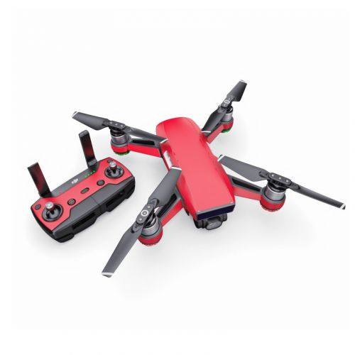 Solid State Red DJI Spark Skin