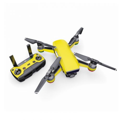 Solid State Yellow DJI Spark Skin