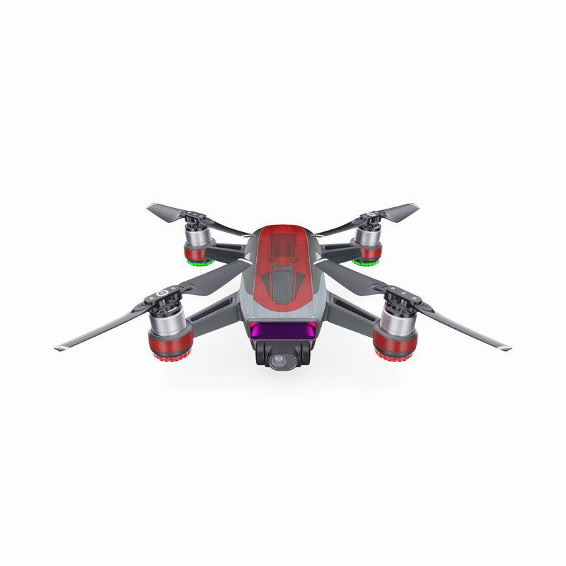 DJI Spark Skin design with black, red, gray colors