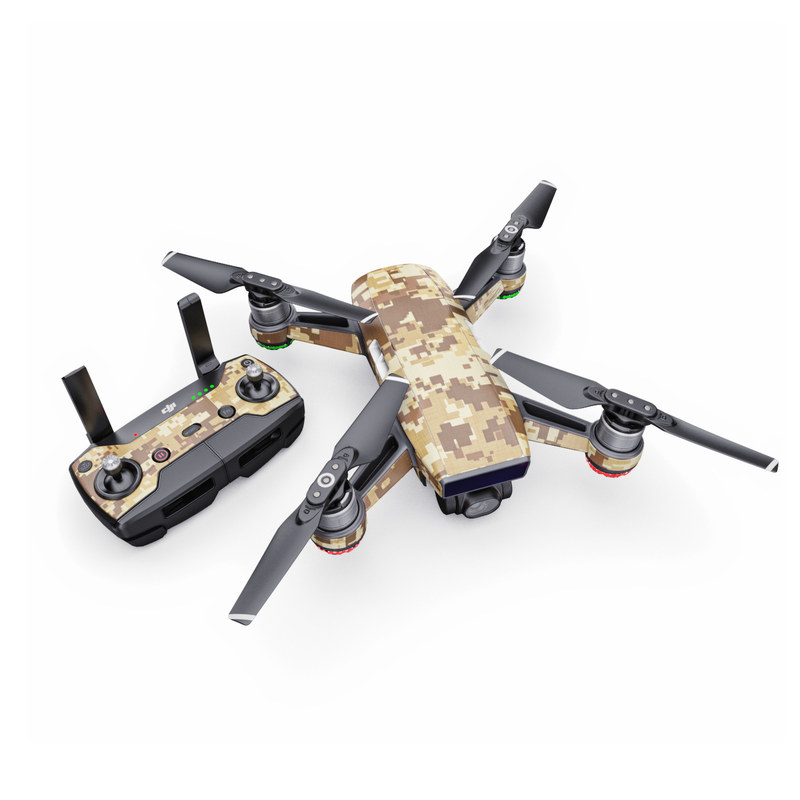 DJI Spark Skin design of Military camouflage, Brown, Pattern, Camouflage, Wall, Beige, Design, Textile, Uniform, Flooring with brown colors