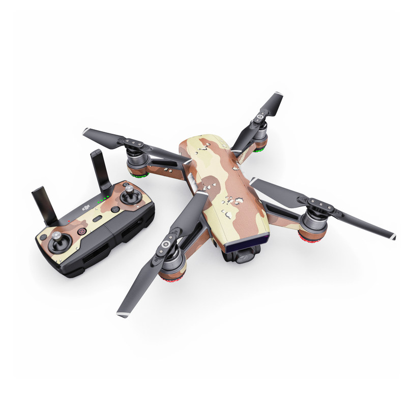 DJI Spark Skin design of Military camouflage, Brown, Pattern, Design, Camouflage, Textile, Beige, Illustration, Uniform, Metal with gray, red, black, green colors