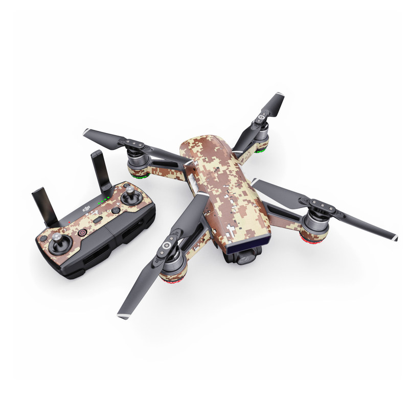 DJI Spark Skin design of Military camouflage, Camouflage, Pattern, Brown, Uniform, Design, Textile, Beige, Metal with black, gray, red, green colors