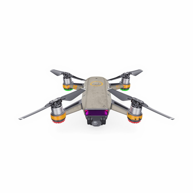 DJI Spark Skin design with gray, yellow colors