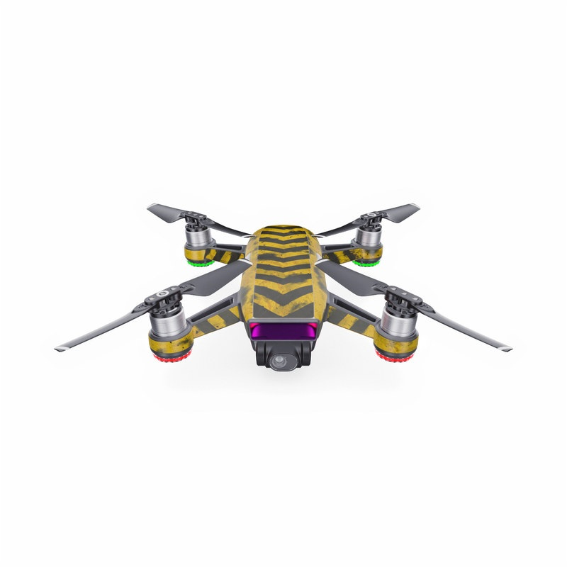 DJI Spark Skin design with black, yellow, gray colors