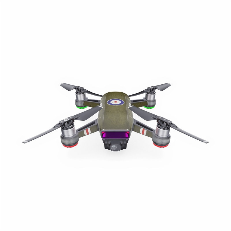 DJI Spark Skin design with green, red, white, blue colors