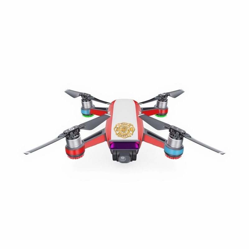 DJI Spark Skin design with white, yellow, orange, red colors