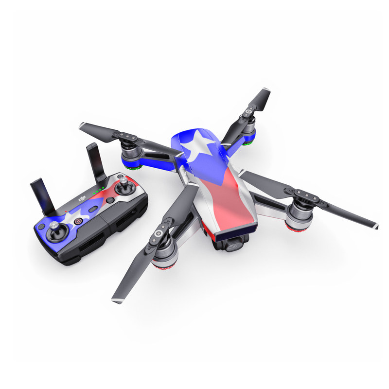 DJI Spark Skin design of Flag, Flag of the united states, Flag Day (USA), Veterans day, Independence day with red, blue, white colors