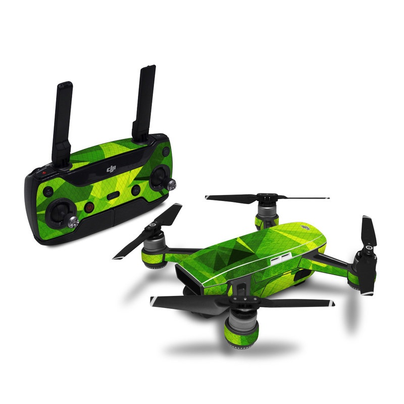 DJI Spark Skin design with green colors