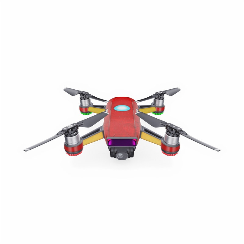 DJI Spark Skin design with red, yellow, white colors