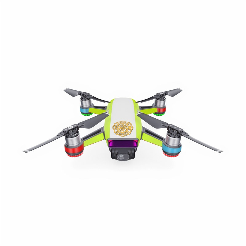 DJI Spark Skin design with white, green, yellow, orange, red colors