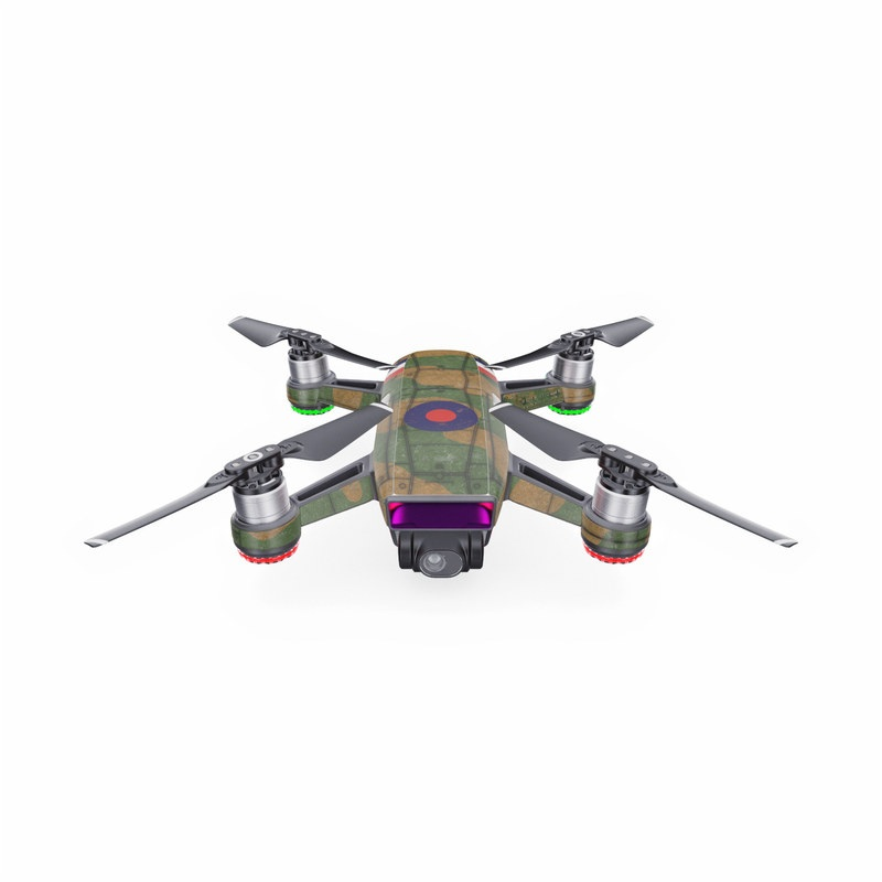 DJI Spark Skin design with green, brown colors