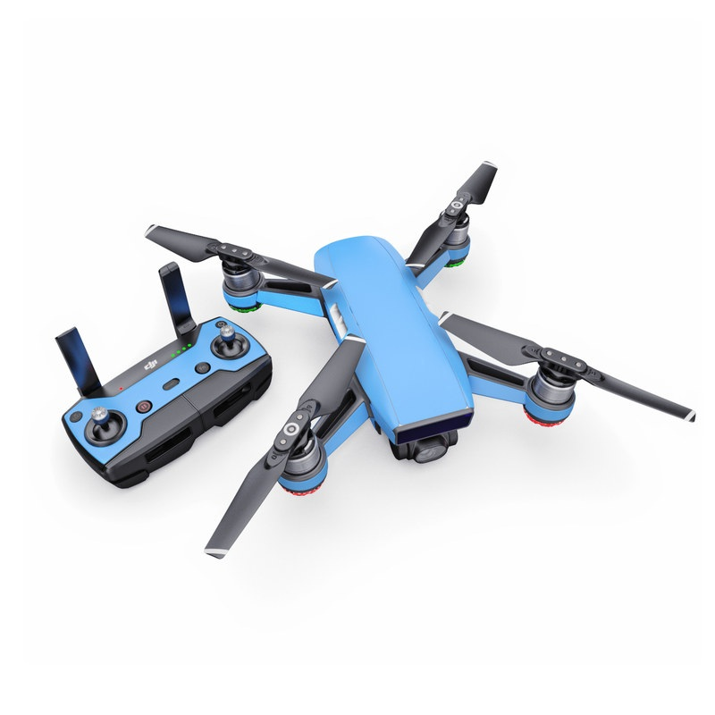 DJI Spark Skin design of Sky, Blue, Daytime, Aqua, Cobalt blue, Atmosphere, Azure, Turquoise, Electric blue, Calm with blue colors