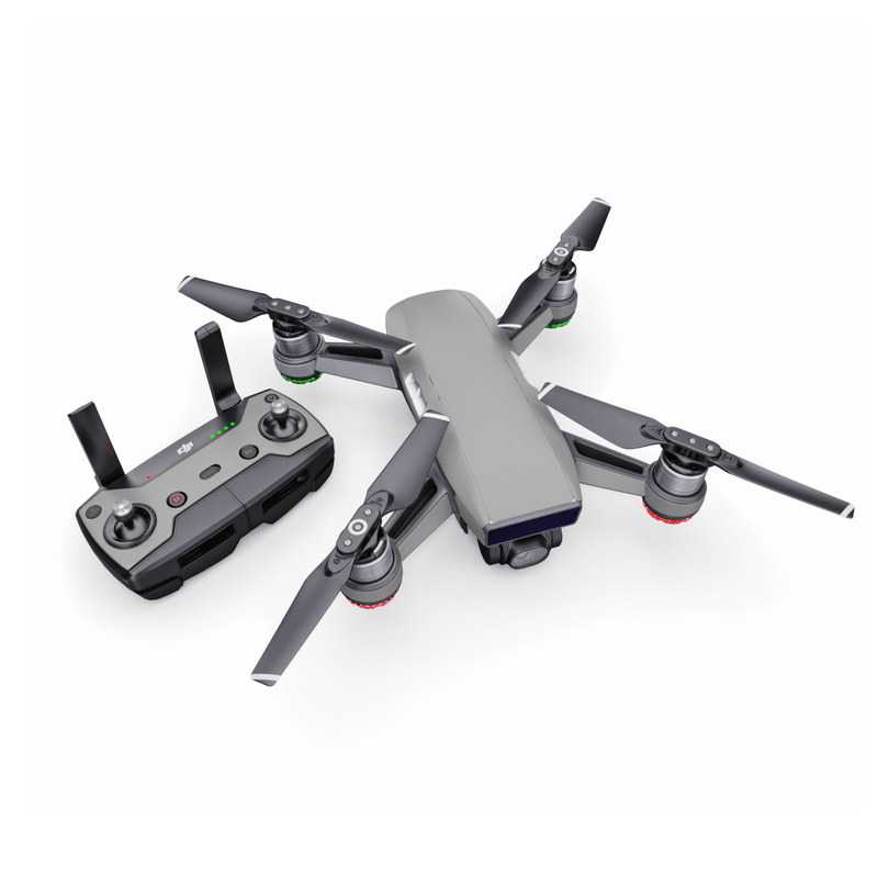 DJI Spark Skin design of Atmospheric phenomenon, Daytime, Grey, Brown, Sky, Calm, Atmosphere, Beige with gray colors