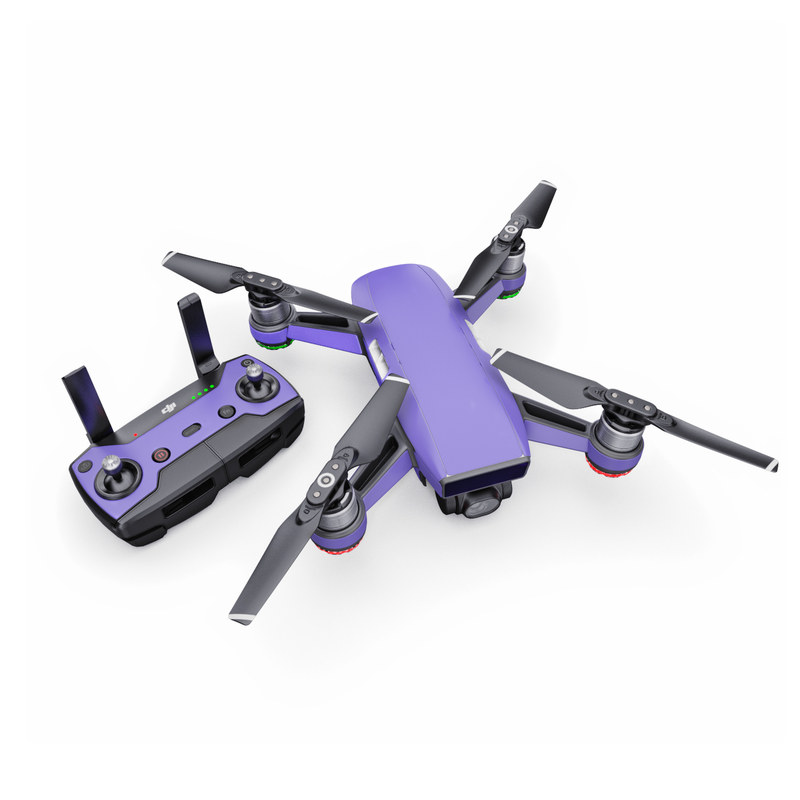 DJI Spark Skin design of Blue, Violet, Sky, Purple, Daytime, Black, Lilac, Cobalt blue, Pink, Azure with purple colors
