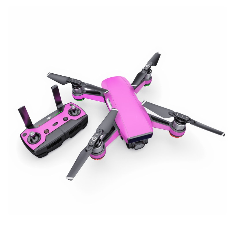 DJI Spark Skin design of Violet, Pink, Purple, Red, Lilac, Magenta, Blue, Lavender, Text, Sky with pink colors