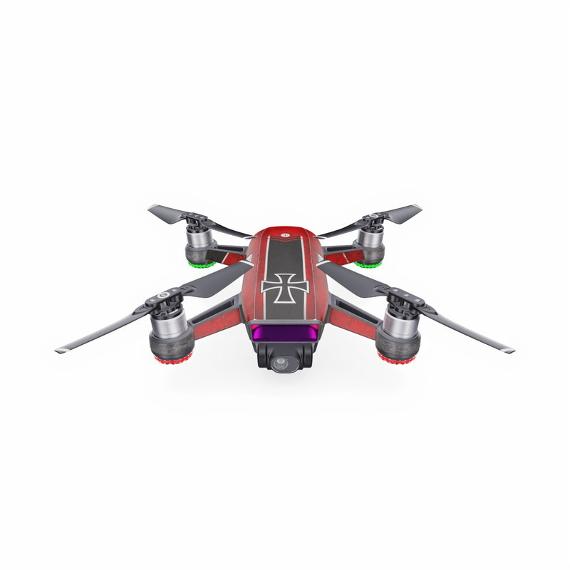 DJI Spark Skin design with red, black, white colors