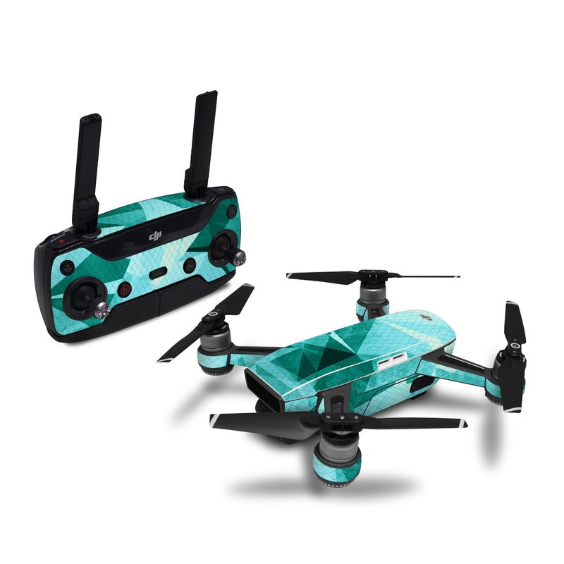 DJI Spark Skin design with blue colors