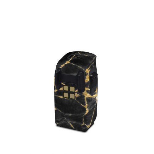 Black Gold Marble DJI Spark Battery Skin