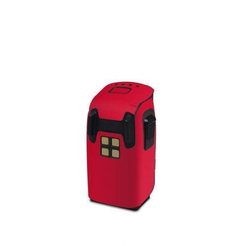 Solid State Red DJI Spark Battery Skin