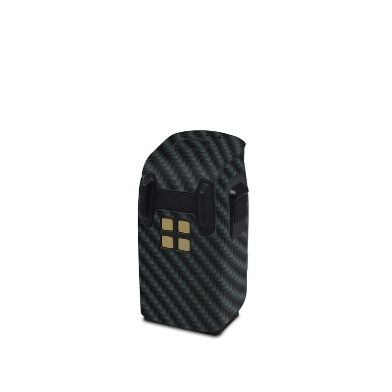 DJI Spark Battery Skin design of Green, Black, Blue, Pattern, Turquoise, Carbon, Textile, Metal, Mesh, Woven fabric with black colors