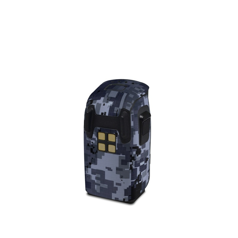 DJI Spark Battery Skin design of Military camouflage, Black, Pattern, Blue, Camouflage, Design, Uniform, Textile, Black-and-white, Space with black, gray, blue colors