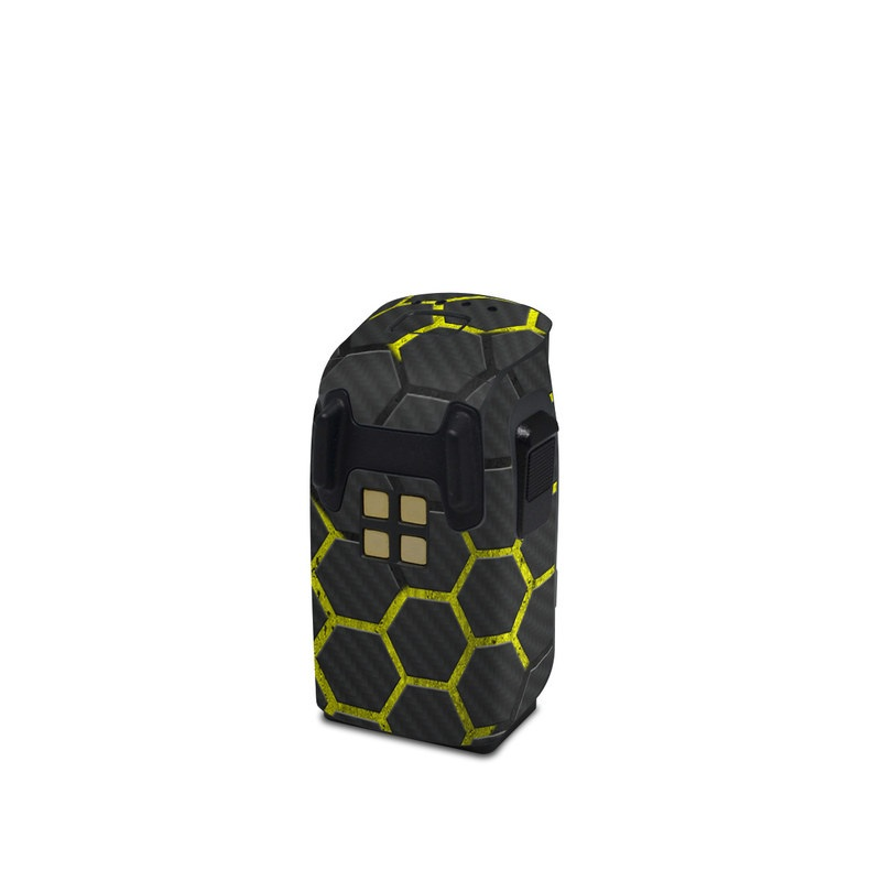 DJI Spark Battery Skin design with black, gray, yellow colors