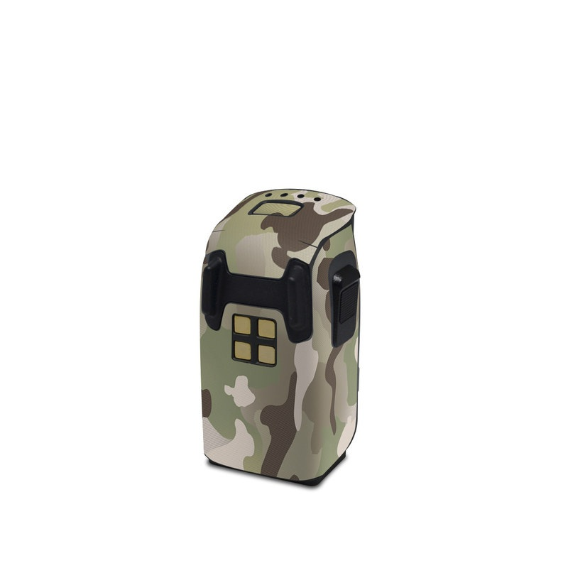 DJI Spark Battery Skin design of Military camouflage, Camouflage, Pattern, Clothing, Uniform, Design, Military uniform, Bed sheet with gray, green, black, red colors