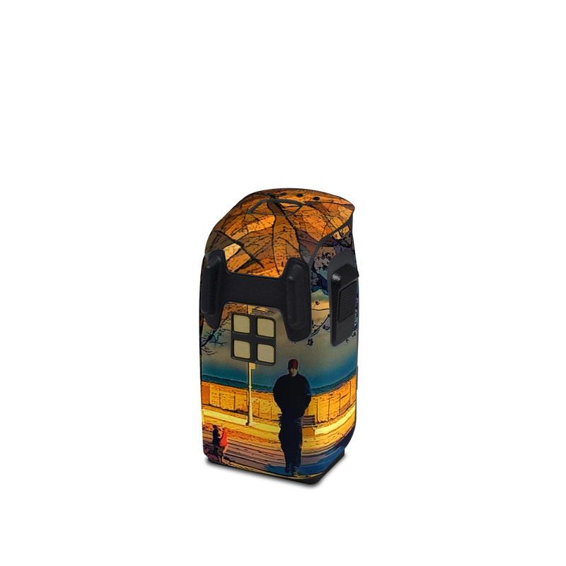 DJI Spark Battery Skin design of Sky, Nature, Natural landscape, Tree, Cloud, Sunset, Evening, Morning, Sunrise, Horizon with black, brown, yellow, orange, blue colors