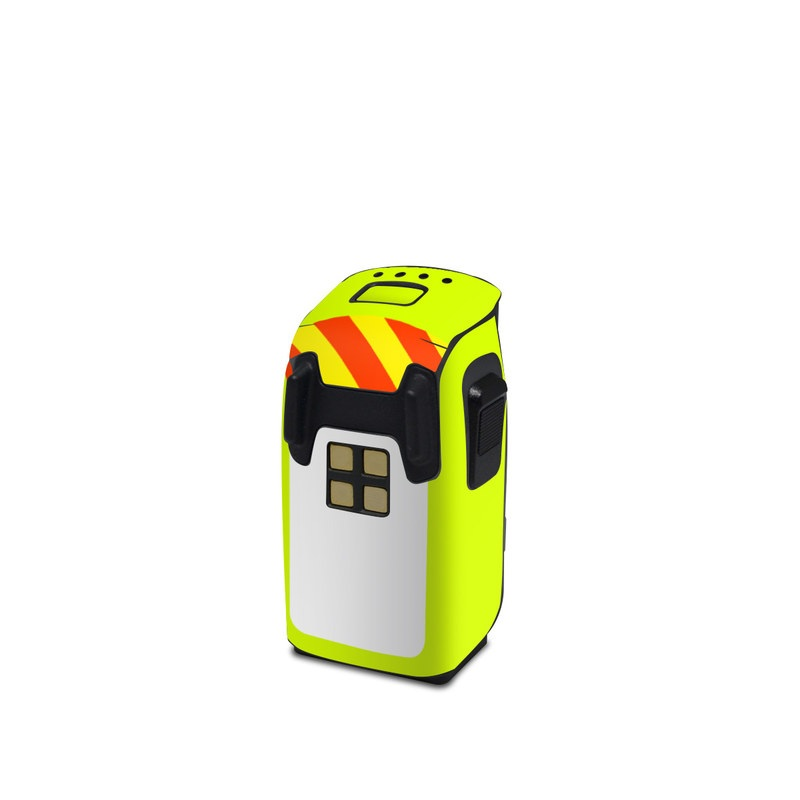 DJI Spark Battery Skin design with white, green, yellow, orange, red colors