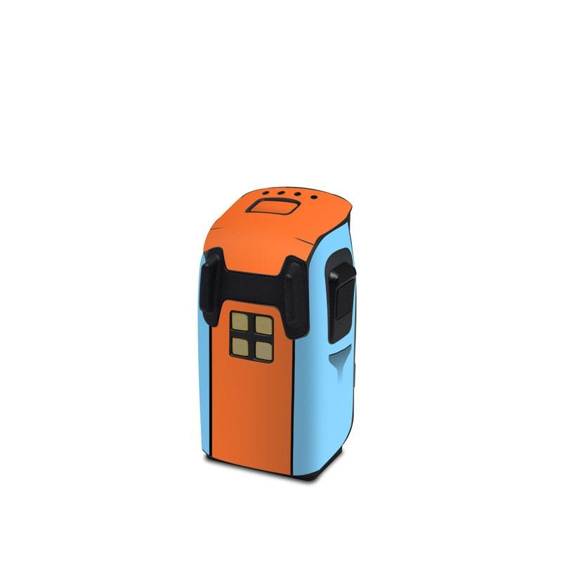 DJI Spark Battery Skin design with blue, orange colors