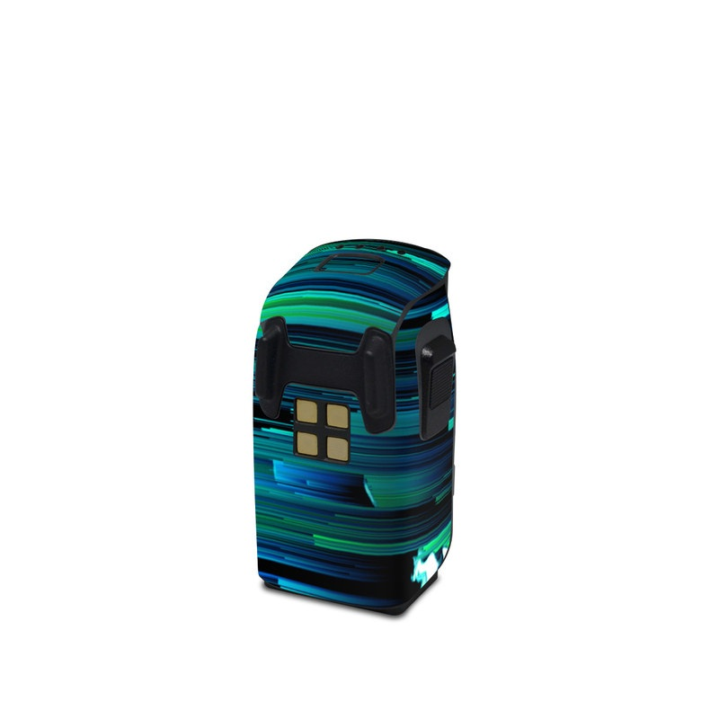 DJI Spark Battery Skin design of Blue, Green, Turquoise, Light, Colorfulness, Electric blue with blue, green, black, white colors