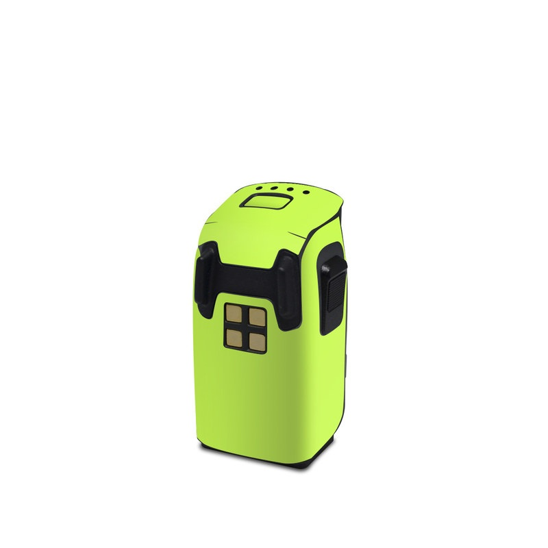 DJI Spark Battery Skin design of Green, Yellow, Text, Leaf, Font, Grass with green colors