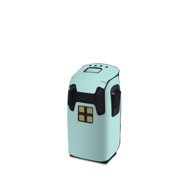 DJI Spark Battery Skin design of Green, Blue, Aqua, Turquoise, Teal, Azure, Text, Daytime, Yellow, Sky with blue colors