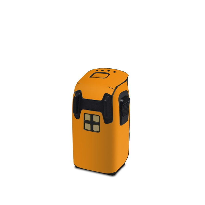 DJI Spark Battery Skin design of Orange, Yellow, Brown, Text, Amber, Font, Peach with orange colors