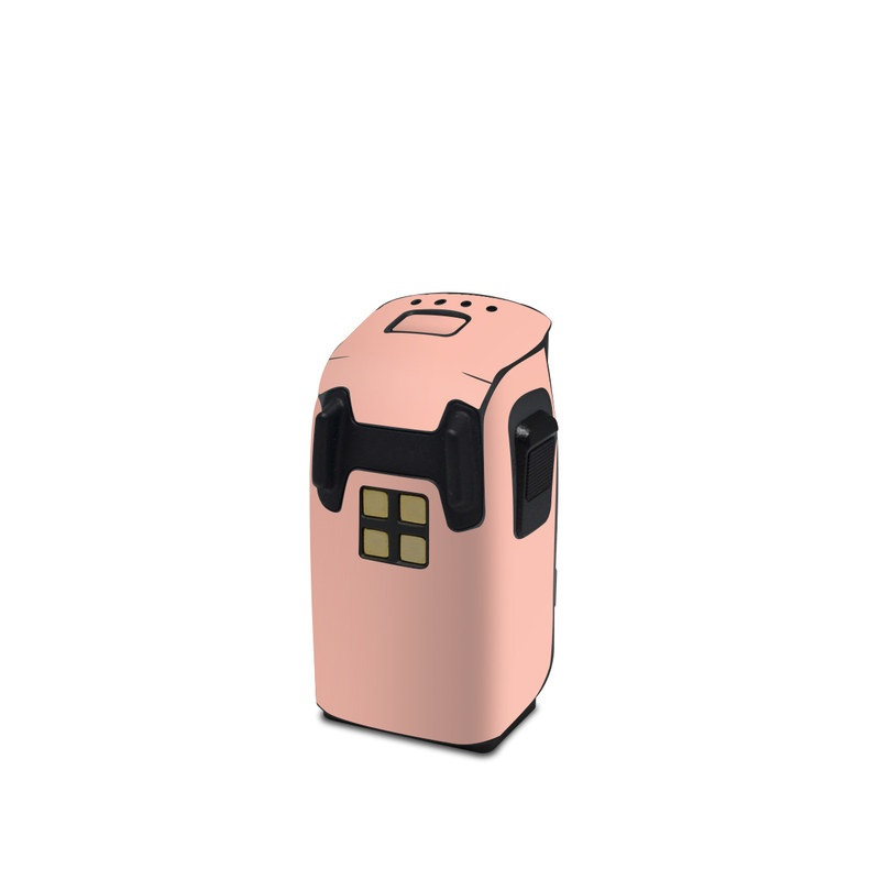 DJI Spark Battery Skin design of Orange, Pink, Peach, Brown, Red, Yellow, Material property, Font, Beige with pink colors