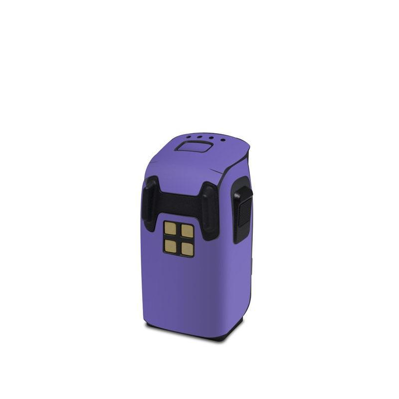 DJI Spark Battery Skin design of Blue, Violet, Sky, Purple, Daytime, Black, Lilac, Cobalt blue, Pink, Azure with purple colors