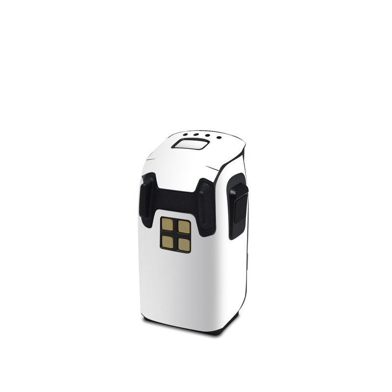 DJI Spark Battery Skin design of White, Black, Line with white colors