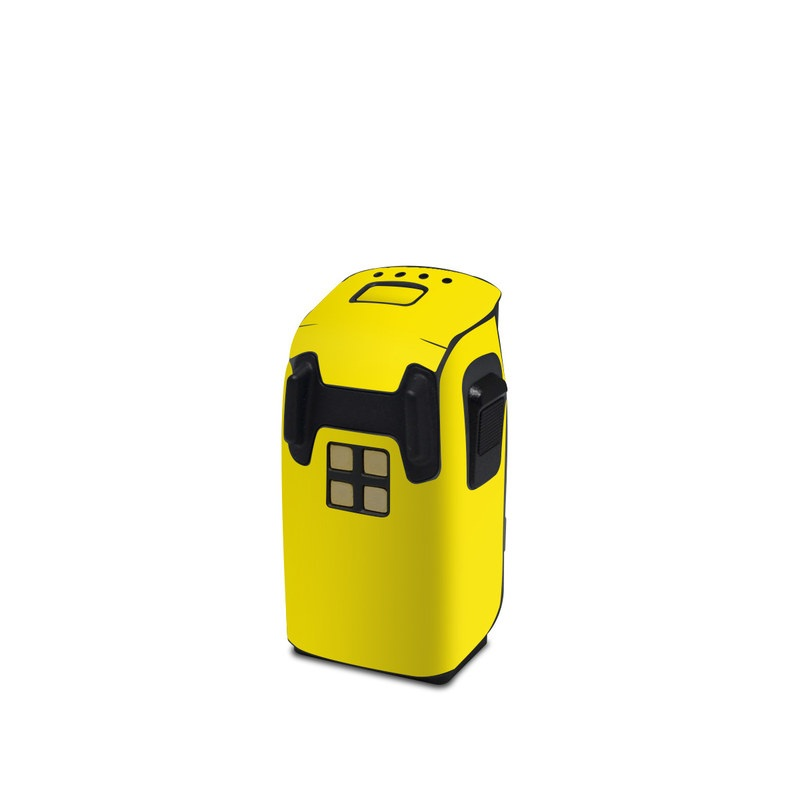 DJI Spark Battery Skin design of Green, Yellow, Orange, Text, Font with yellow colors
