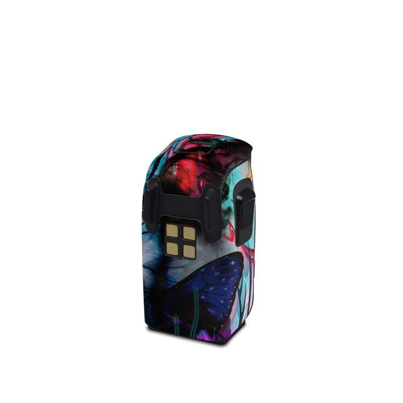 DJI Spark Battery Skin design of Graphic design, Psychedelic art, Art, Illustration, Purple, Visual arts, Graffiti, Street art, Design, Painting with gray, black, blue, green, purple colors