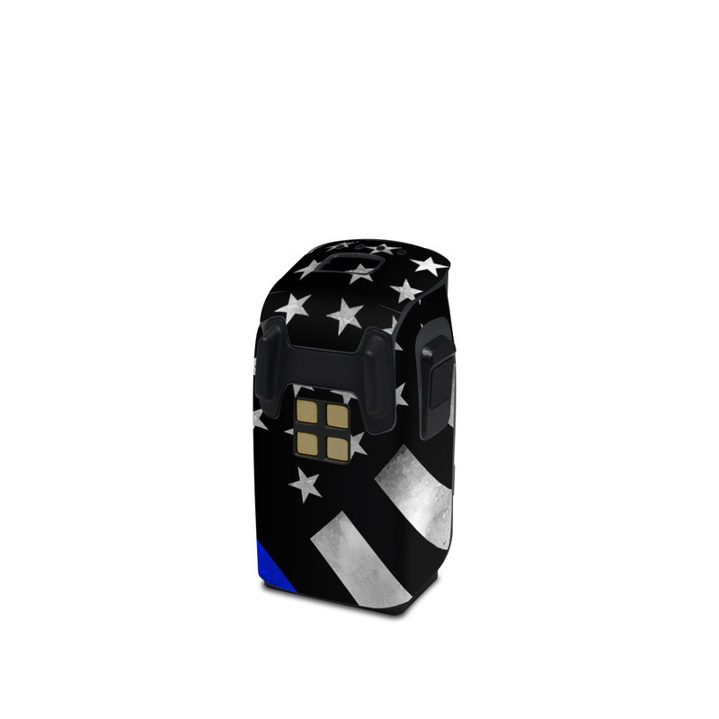 DJI Spark Battery Skin design of Flag of the united states, Flag, Cobalt blue, Pattern, Line, Black-and-white, Design, Monochrome, Electric blue, Parallel with black, white, gray, blue colors