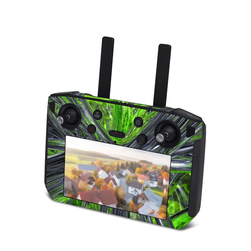 DJI Smart Controller Skin design of Green, Tree, Leaf, Plant, Grass, Terrestrial plant, Botany, Woody plant, Arecales, Vascular plant with green, gray, black colors