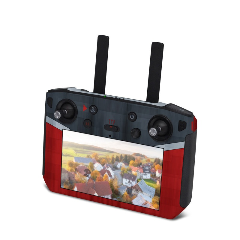 DJI Smart Controller Skin design with black, red, gray colors