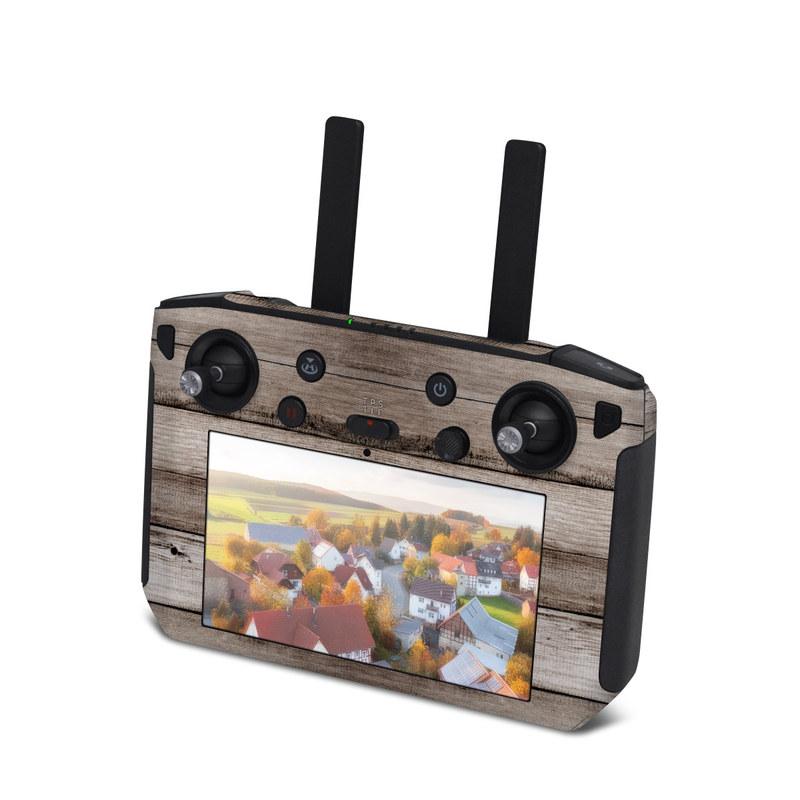 DJI Smart Controller Skin design of Wood, Plank, Wood stain, Hardwood, Line, Pattern, Floor, Lumber, Wood flooring, Plywood with brown, black colors