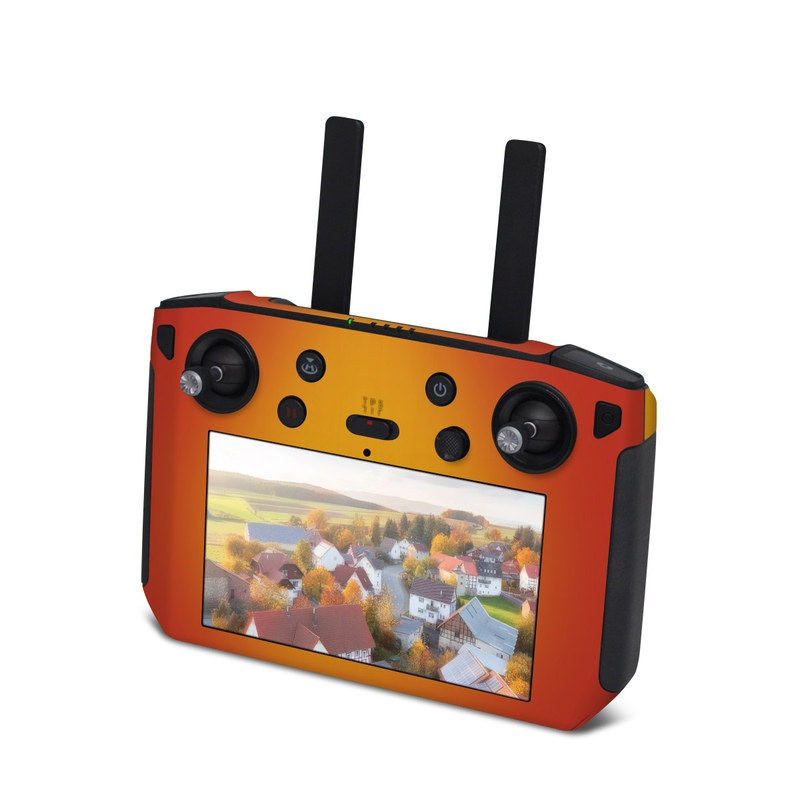 DJI Smart Controller Skin design of Red, Orange, Yellow, Green, Amber, Sky, Peach, Colorfulness with orange, yellow colors