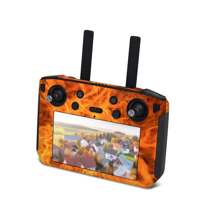 DJI Smart Controller Skin design of Flame, Fire, Heat, Orange with red, orange, black colors