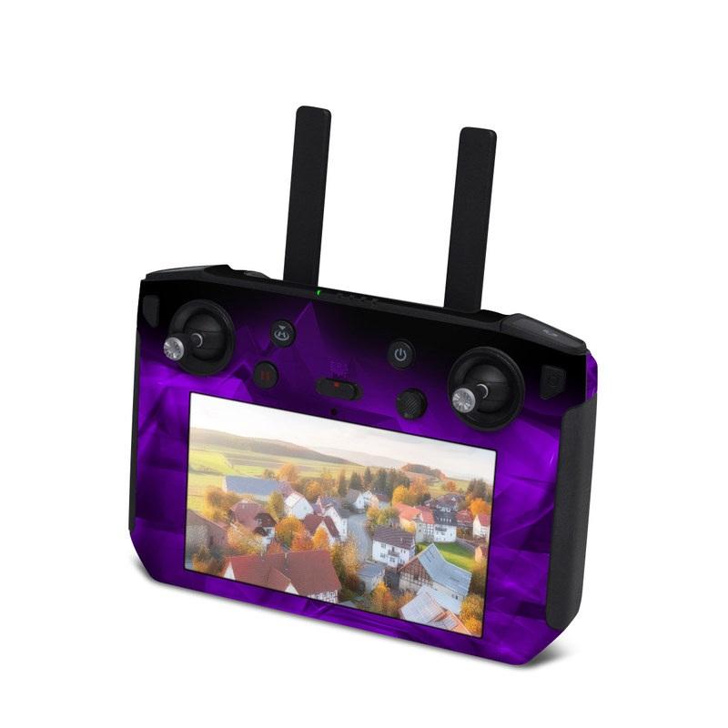 DJI Smart Controller Skin design of Violet, Purple, Pink, Magenta, Blue, Light, Red, Lilac, Petal, Electric blue with black, purple colors