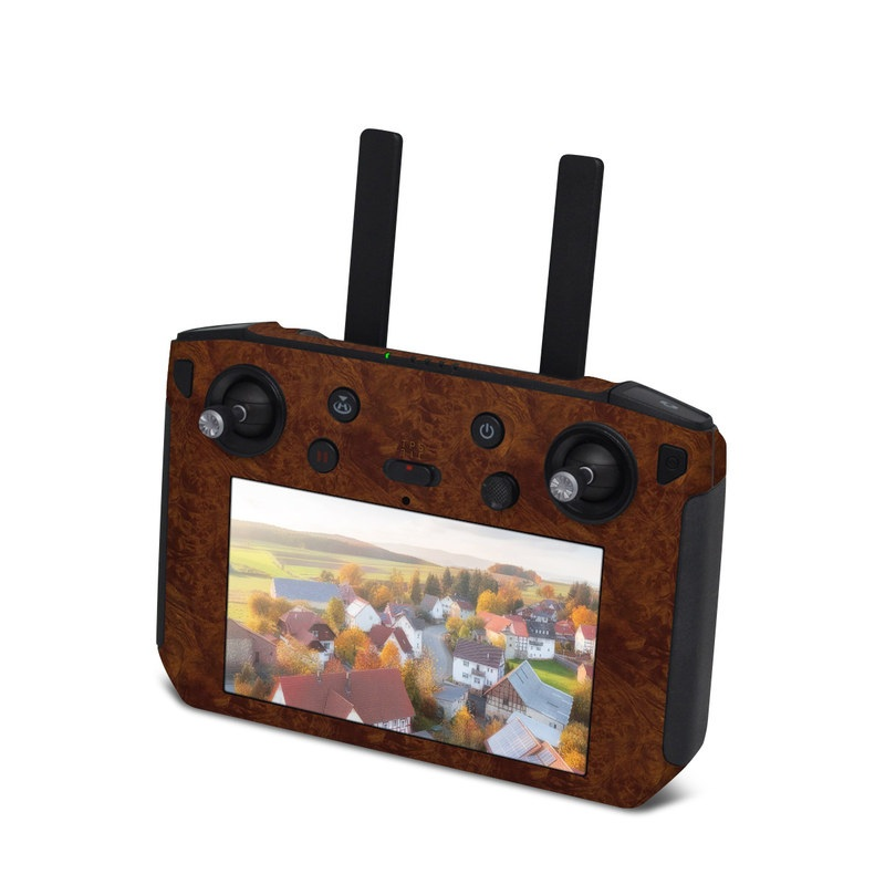 DJI Smart Controller Skin design of Brown, Wood, Wood flooring, Caramel color, Pattern, Hardwood, Wood stain, Flooring, Floor, Plywood with brown colors