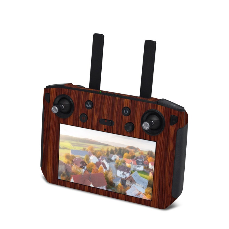 DJI Smart Controller Skin design of Wood, Red, Brown, Hardwood, Wood flooring, Wood stain, Caramel color, Laminate flooring, Flooring, Varnish with black, red colors
