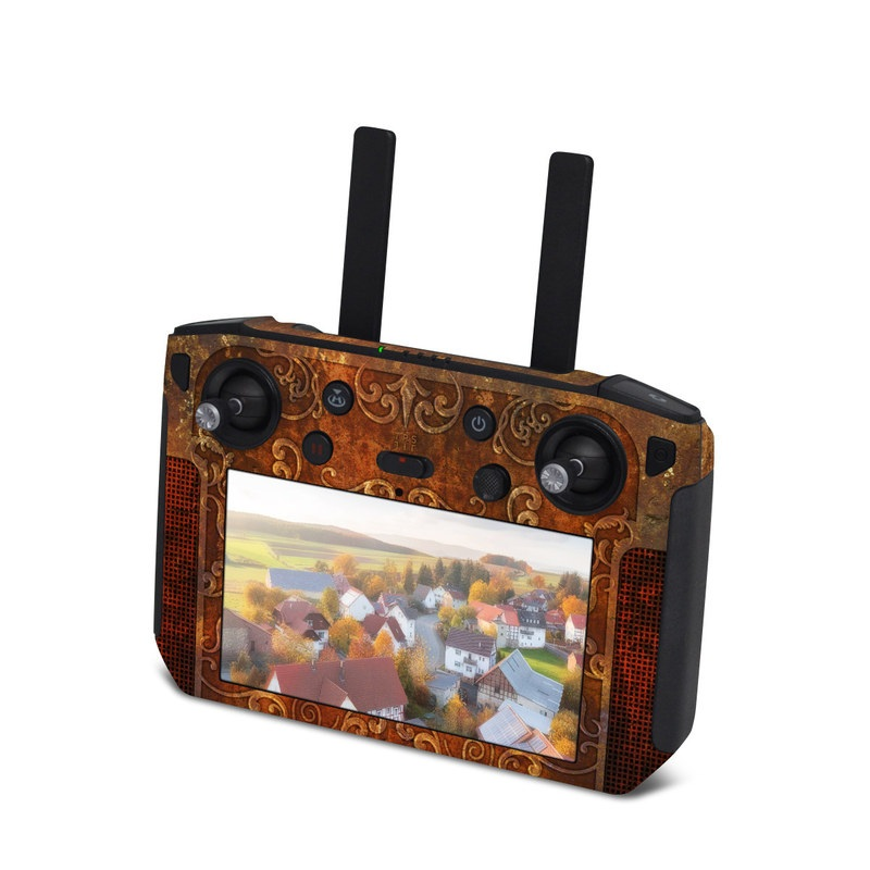 DJI Smart Controller Skin design with brown, red, yellow, green, orange colors