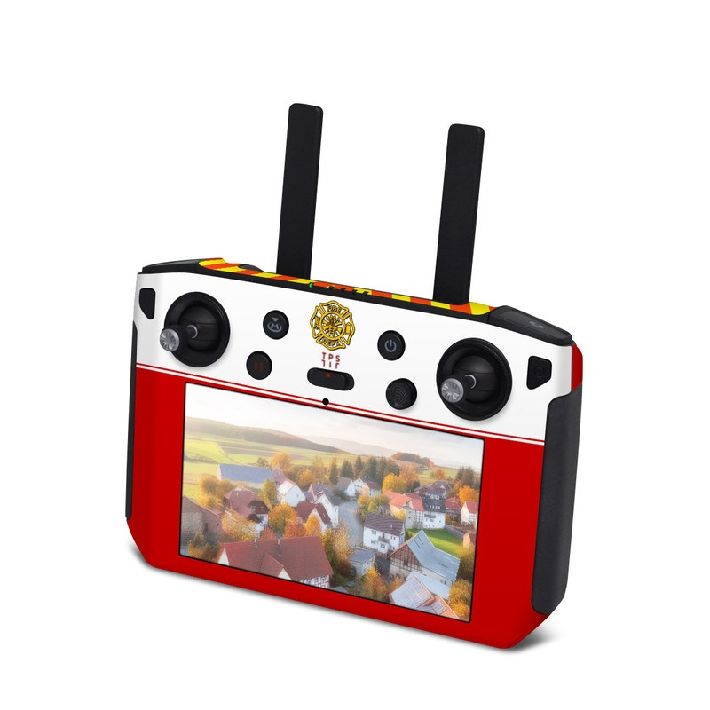 DJI Smart Controller Skin design with white, yellow, orange, red colors